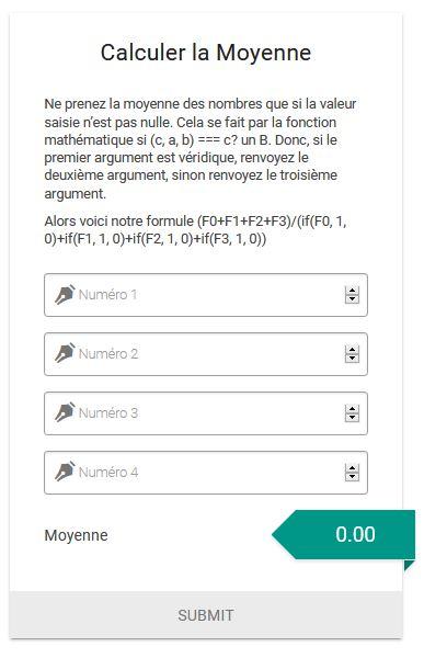 Calculateur de moyenne conditionnelle