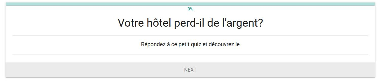 Quiz pour hôtel