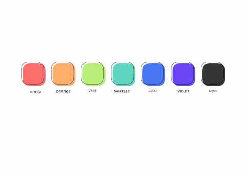 Sept schémas de couleurs